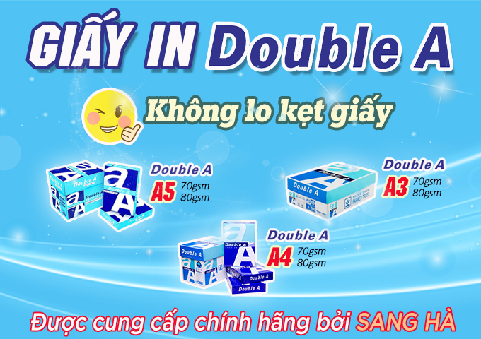 Các loại giấy in Double A